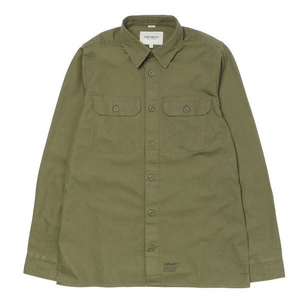 L/S Mission Shirt Stone Wash Rover Green