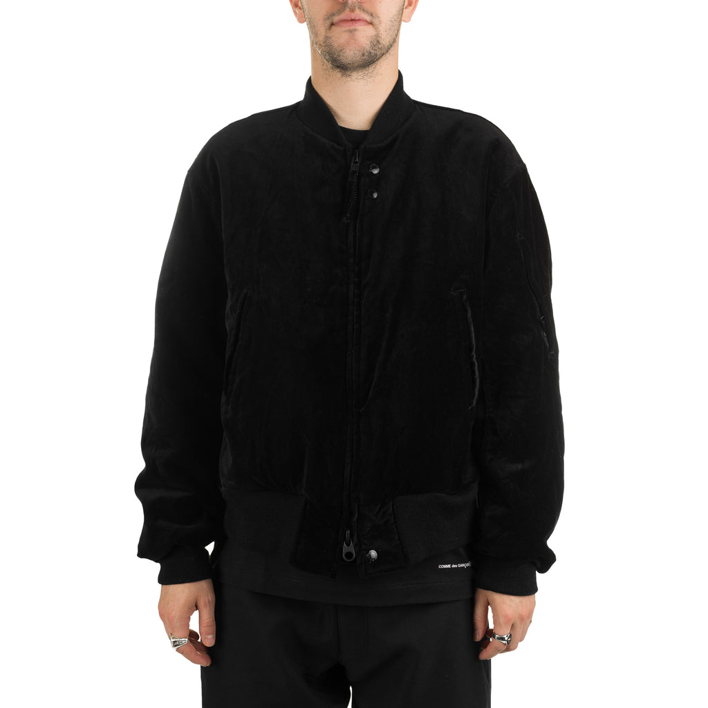 Aviator Jacket Velveteen 19FD011 Black