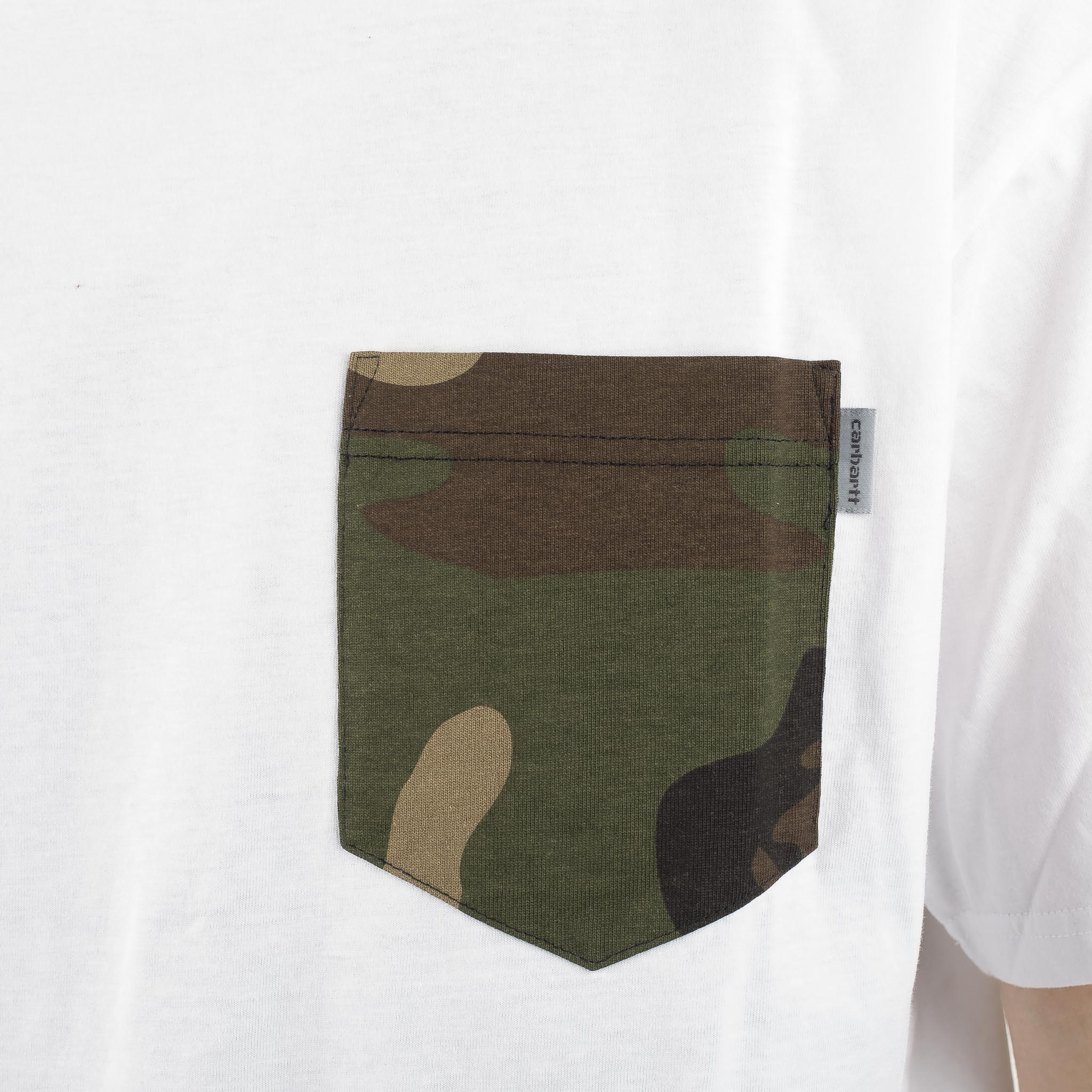 SS Lester Pocket Tee Camo White I017127