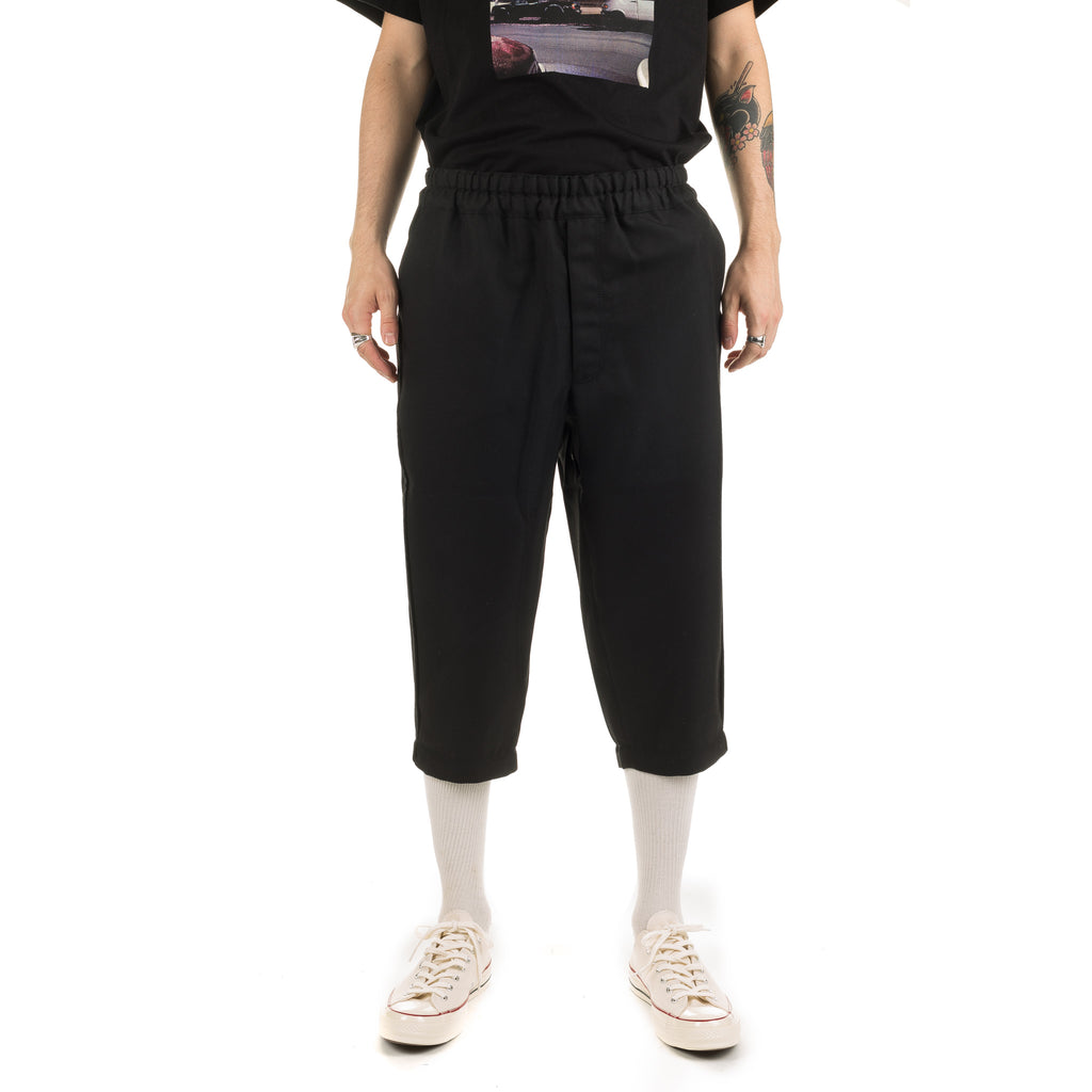 CDG SHIRT Wool Gabardine Pants W27131 Black
