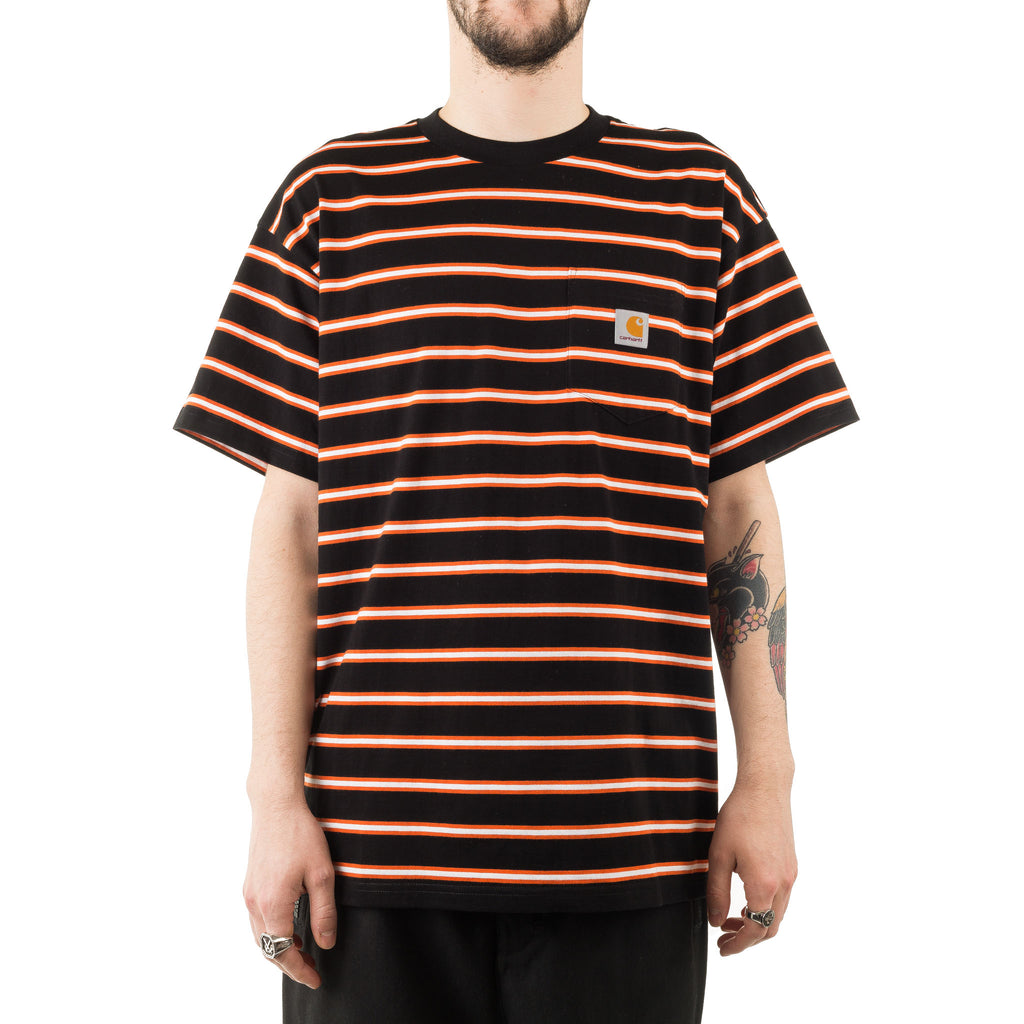 S/S Houston Pocket Tee I026370 Black Stripe