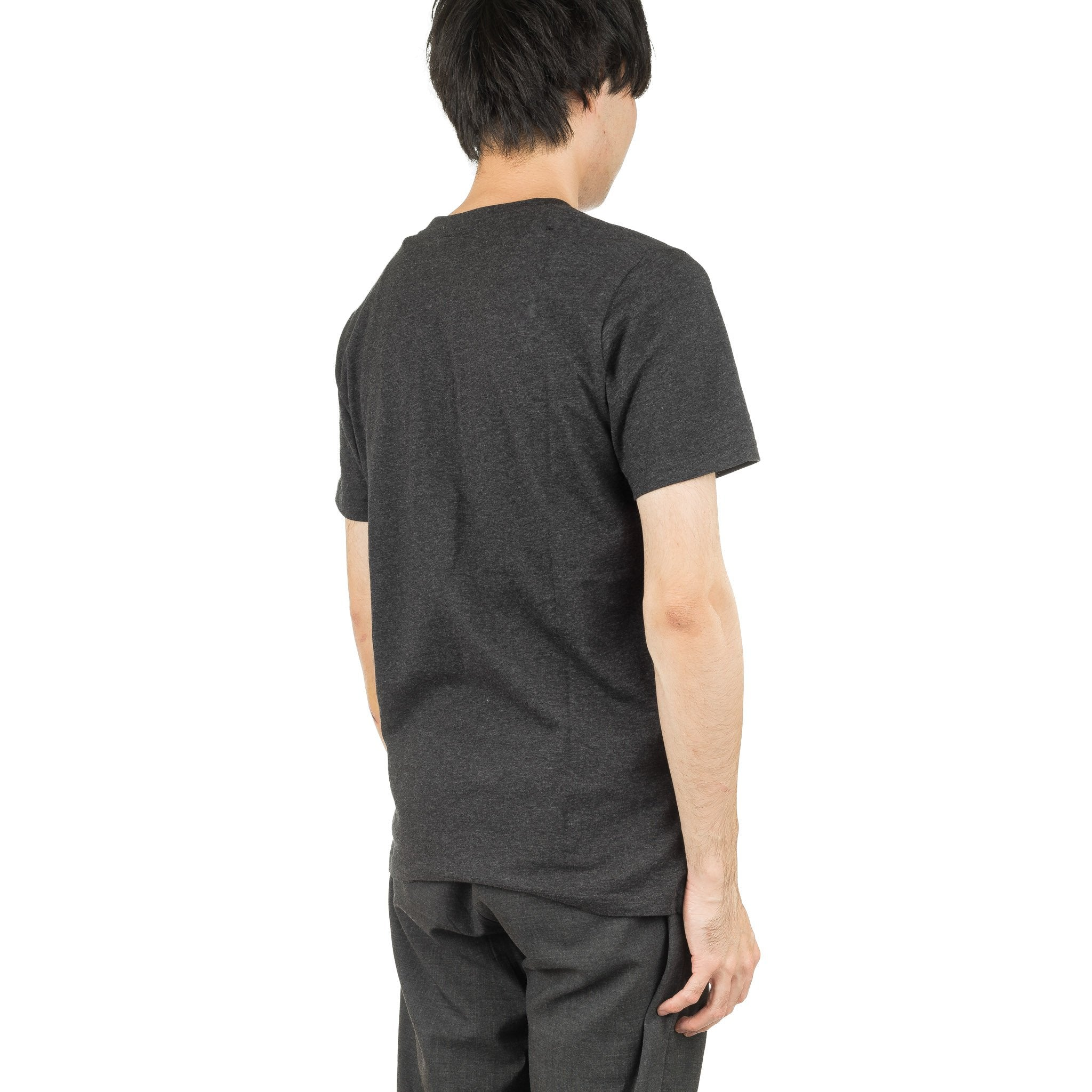 S/S Contrast Pocket T-Shirt Black Heather