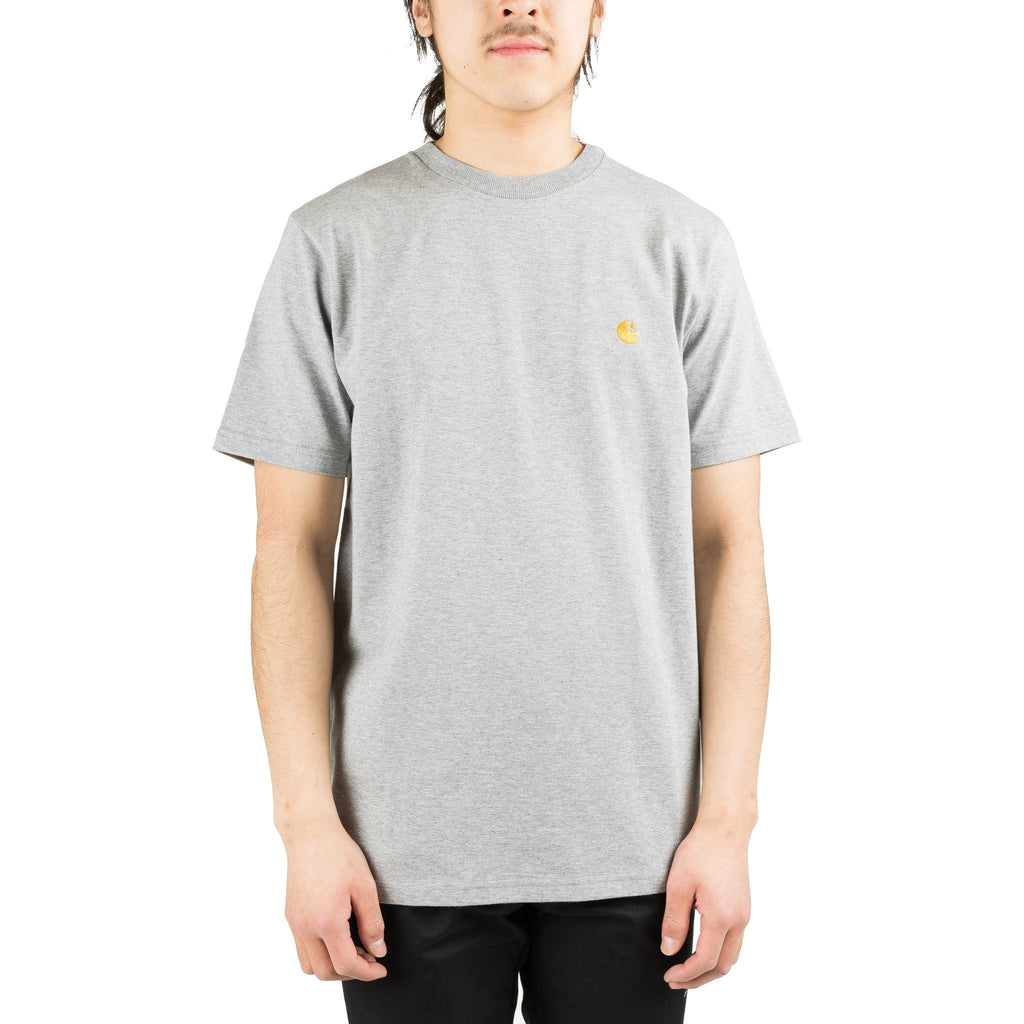 S/S Chase Tee Grey/Gold I026391