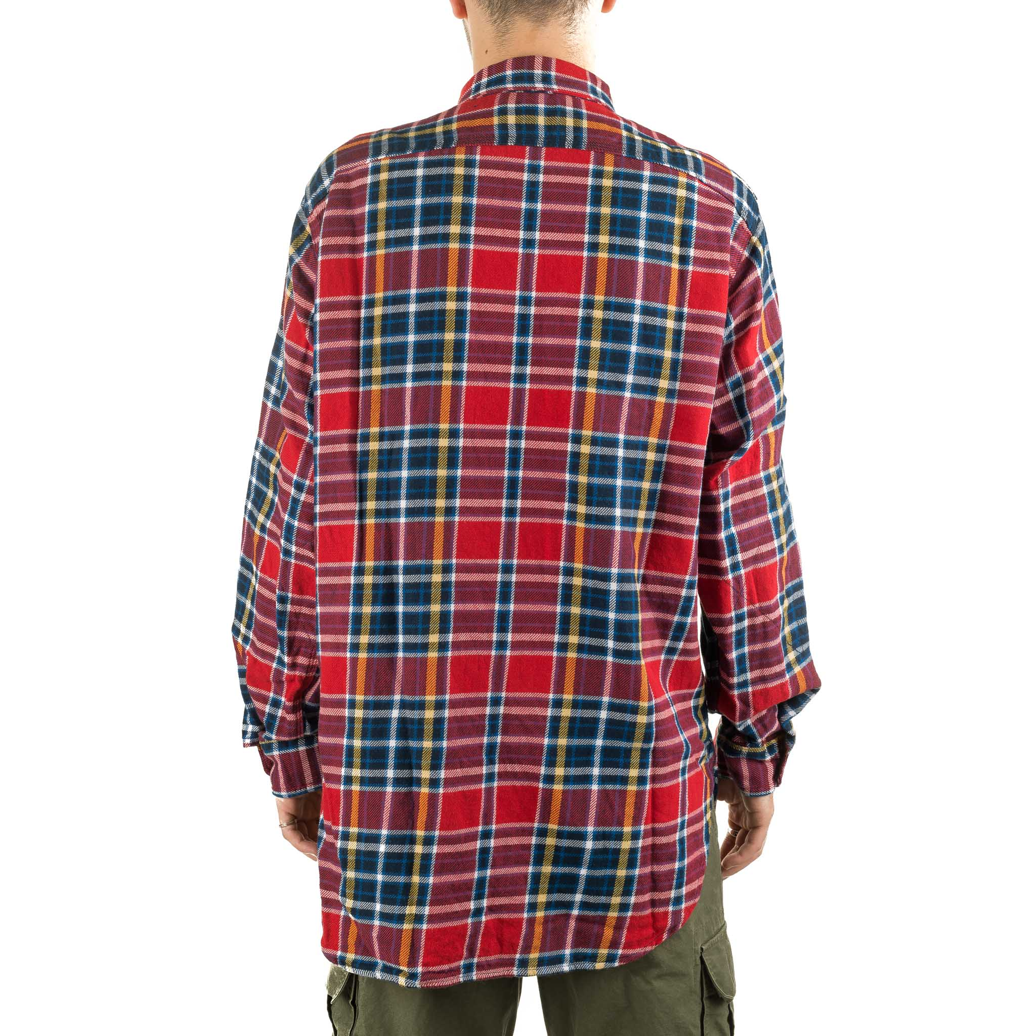 Work Shirt Twill Plaid 19FA007 Red/Navy