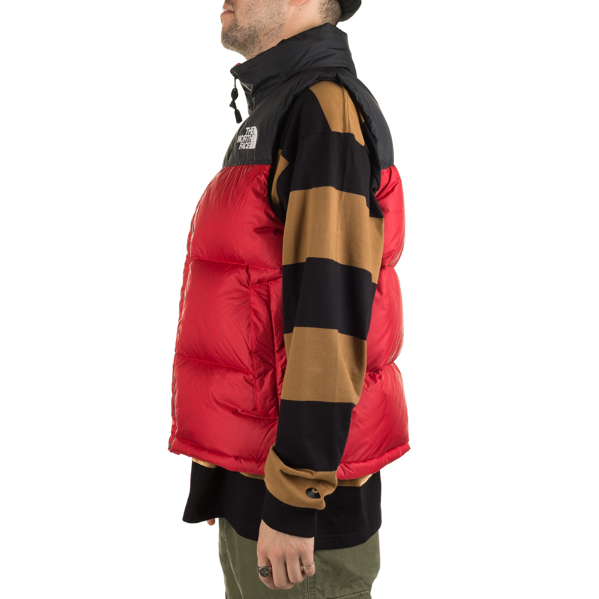 TNF 1996 Retro Nuptse Vest Red/Black