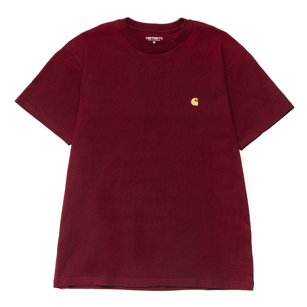 S/S Chase Tee Cranberry/Gold