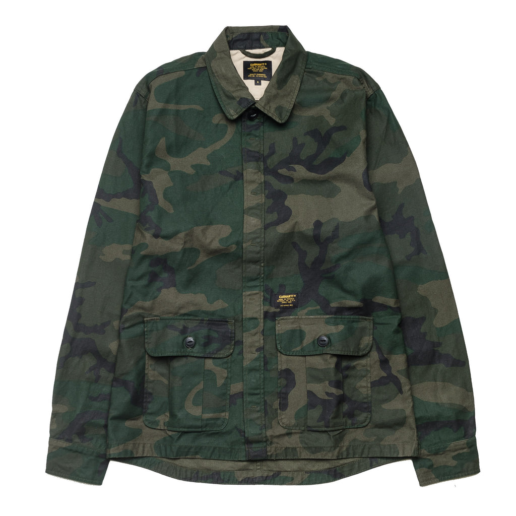 Anson Shirt Jacket Camo Green