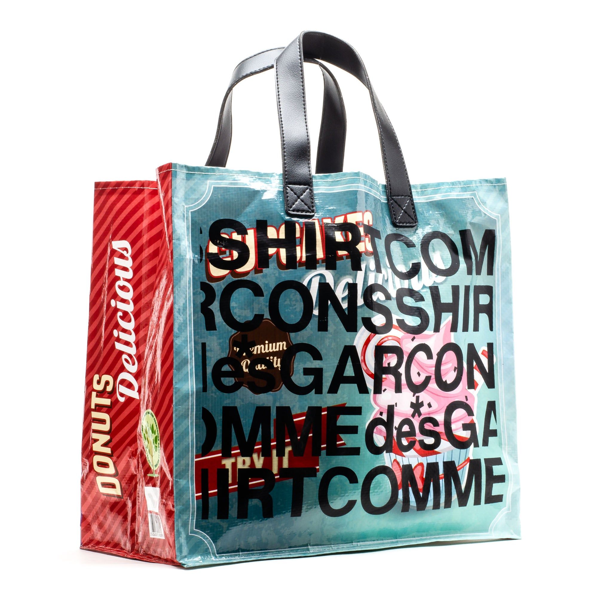 CDG Shirt Shopping Tote Bag Multi Color