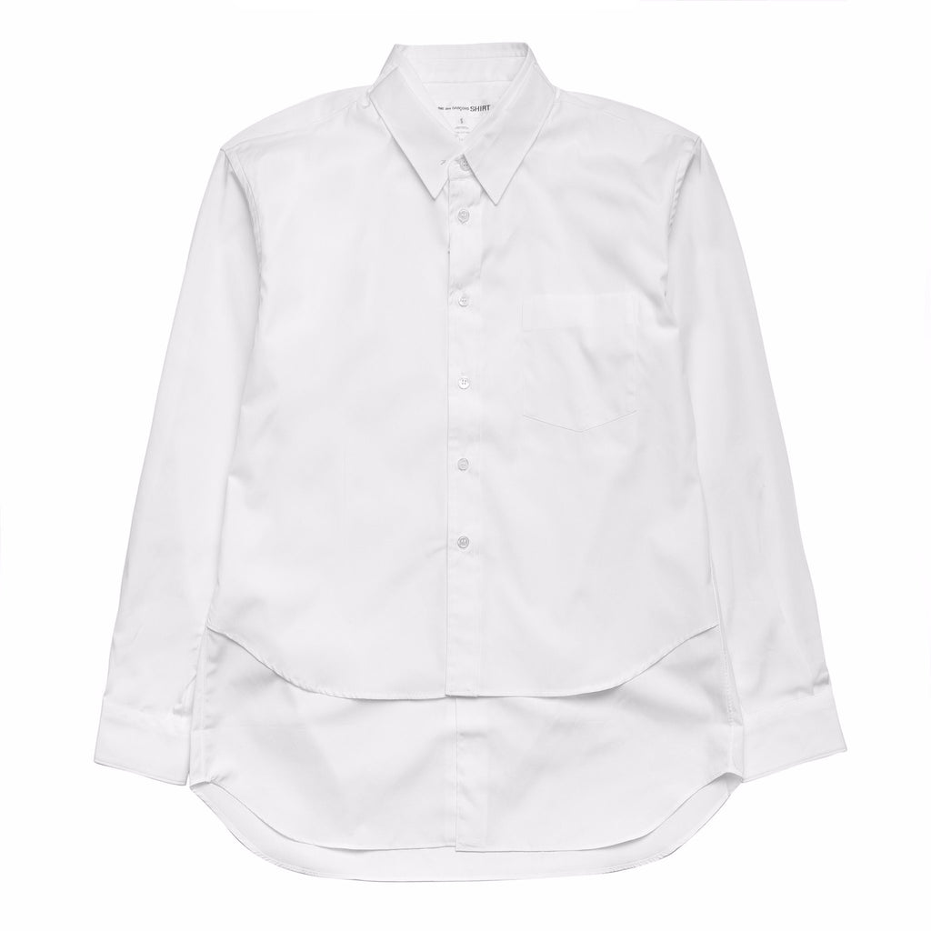 Double Layered Shirt W25088B White