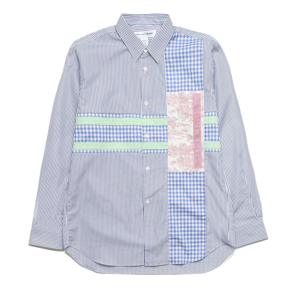 Striped Patchwork Shirt W25052A