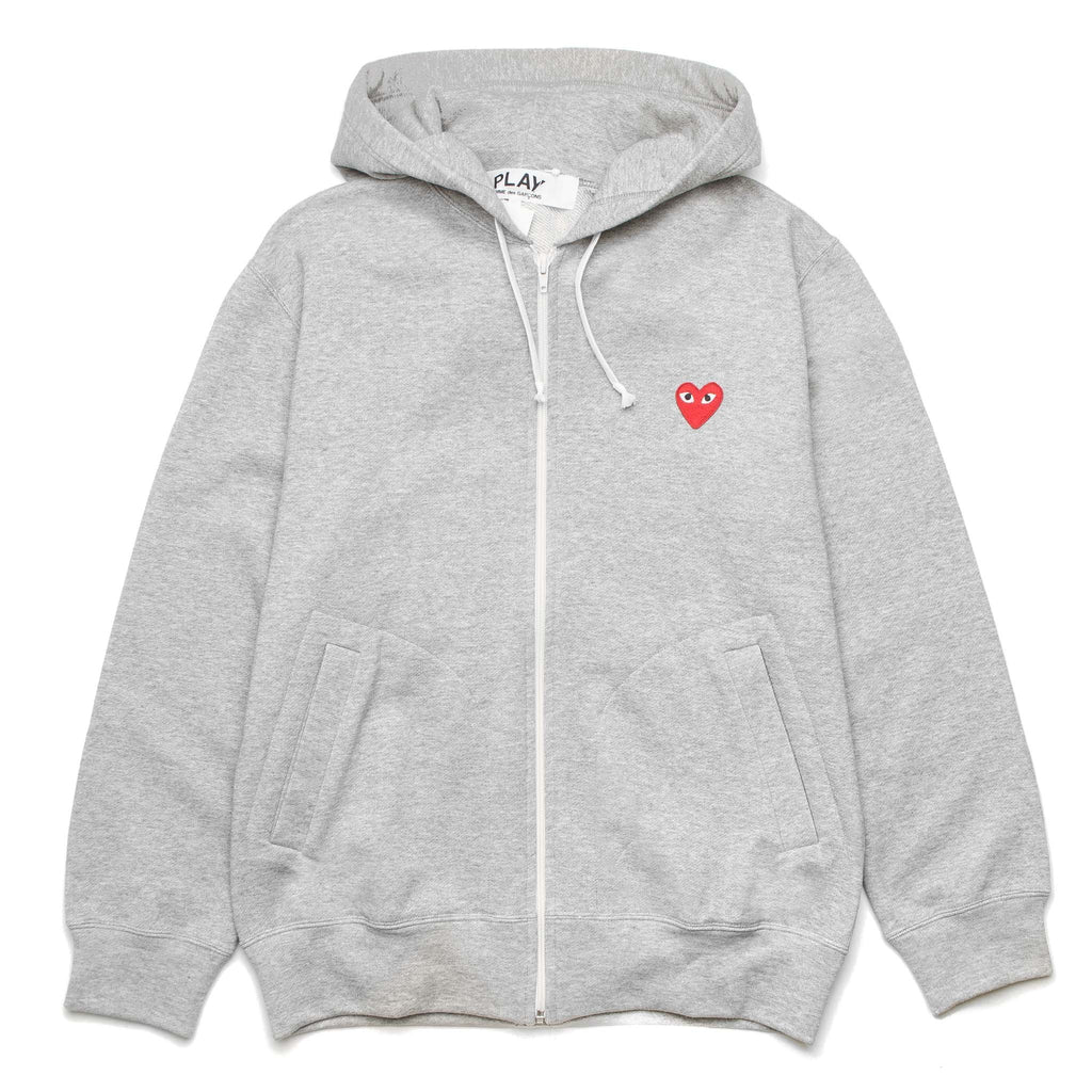 HEART LOGO AZ-T168-051-1 Zip Hoody Grey