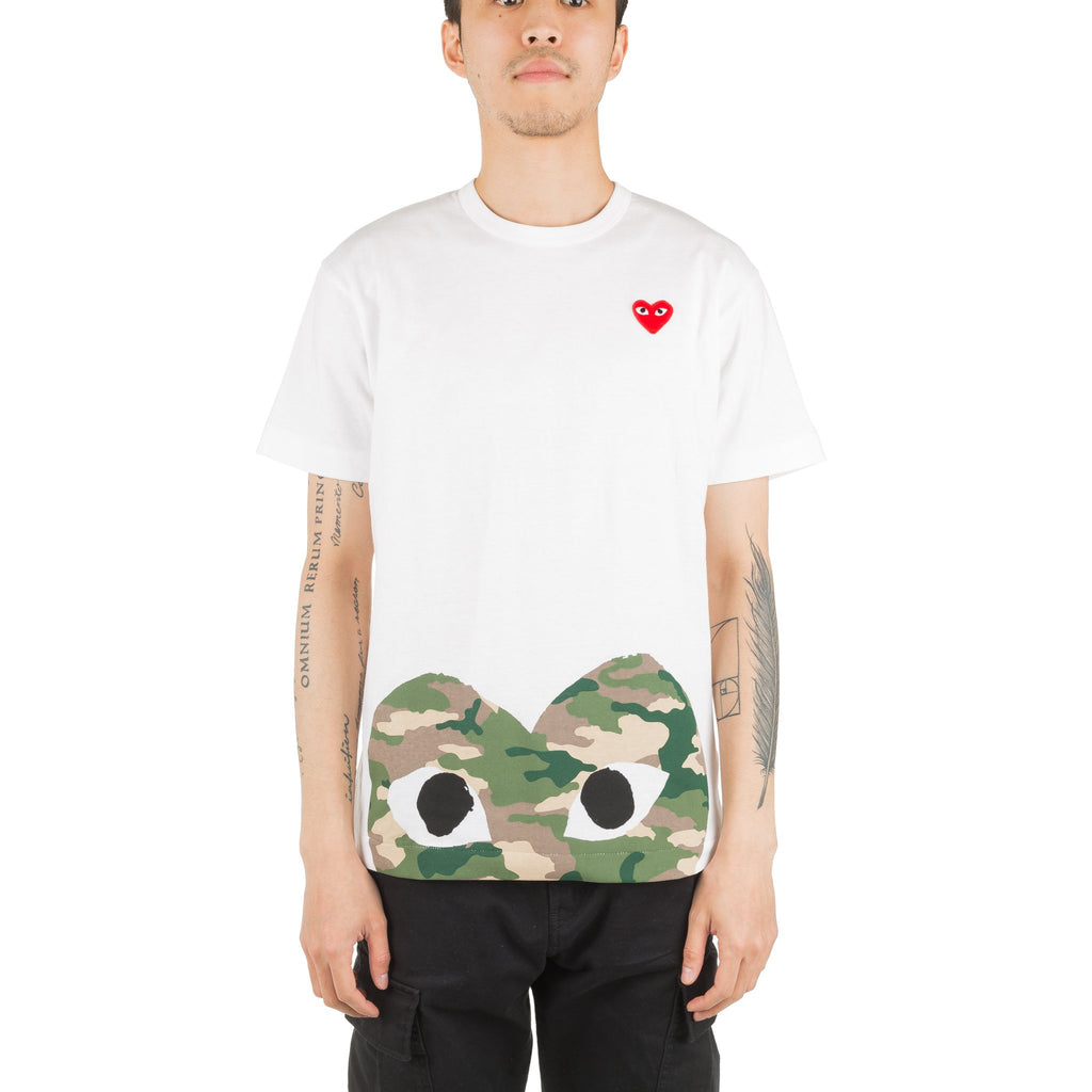 Camo HEART Bottom AZ-T244-051-1 Tee White