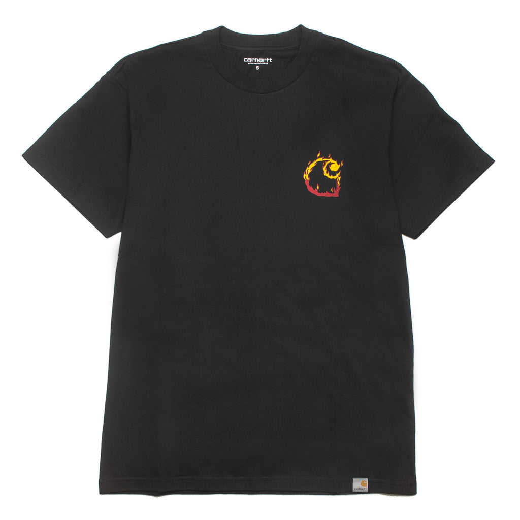 Burning C Tee Black