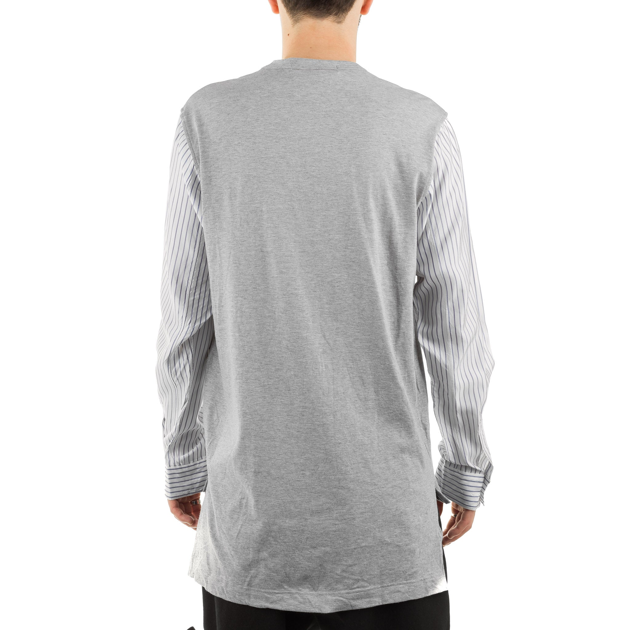 Stripe Sleeve LS Tee S27055 Grey