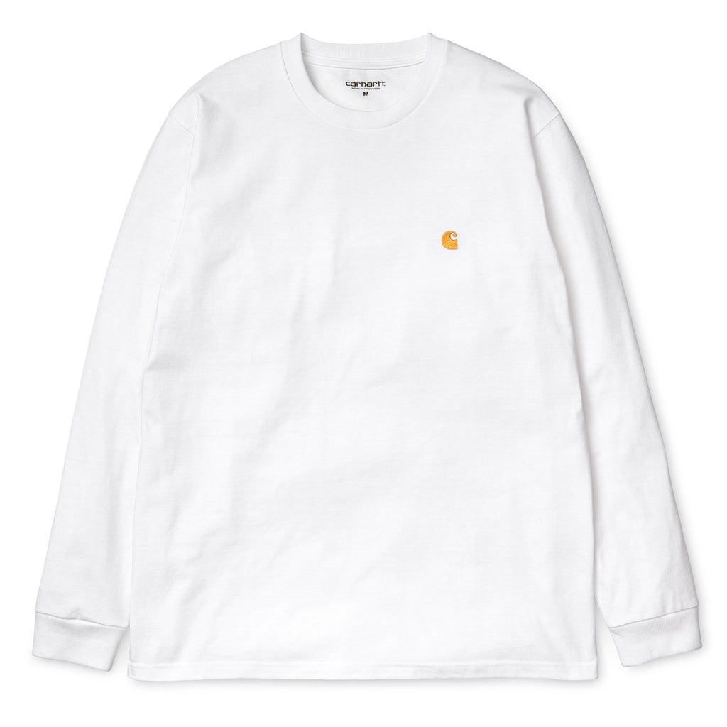L/S Chase Tee 1022923 White/Gold