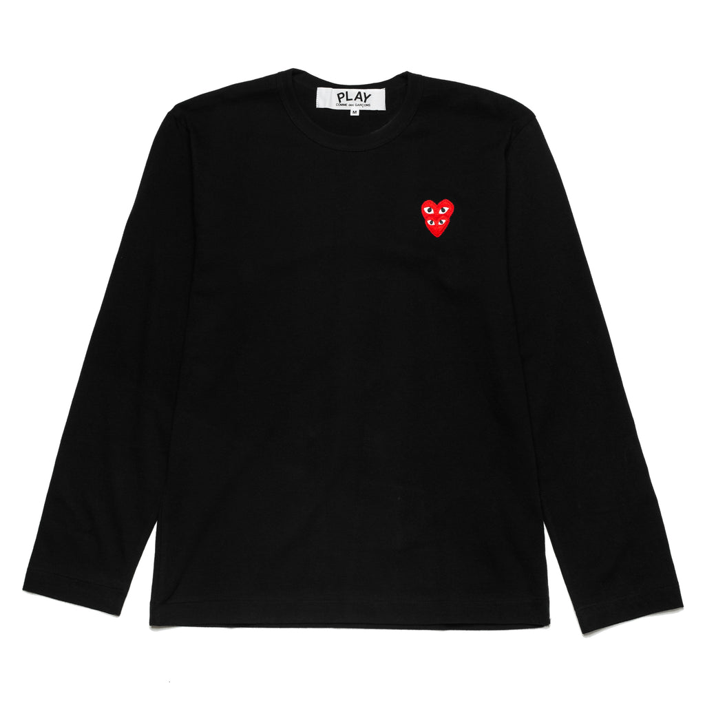 Double Heart Logo L/S Tee AZ-T292-051-1 Black