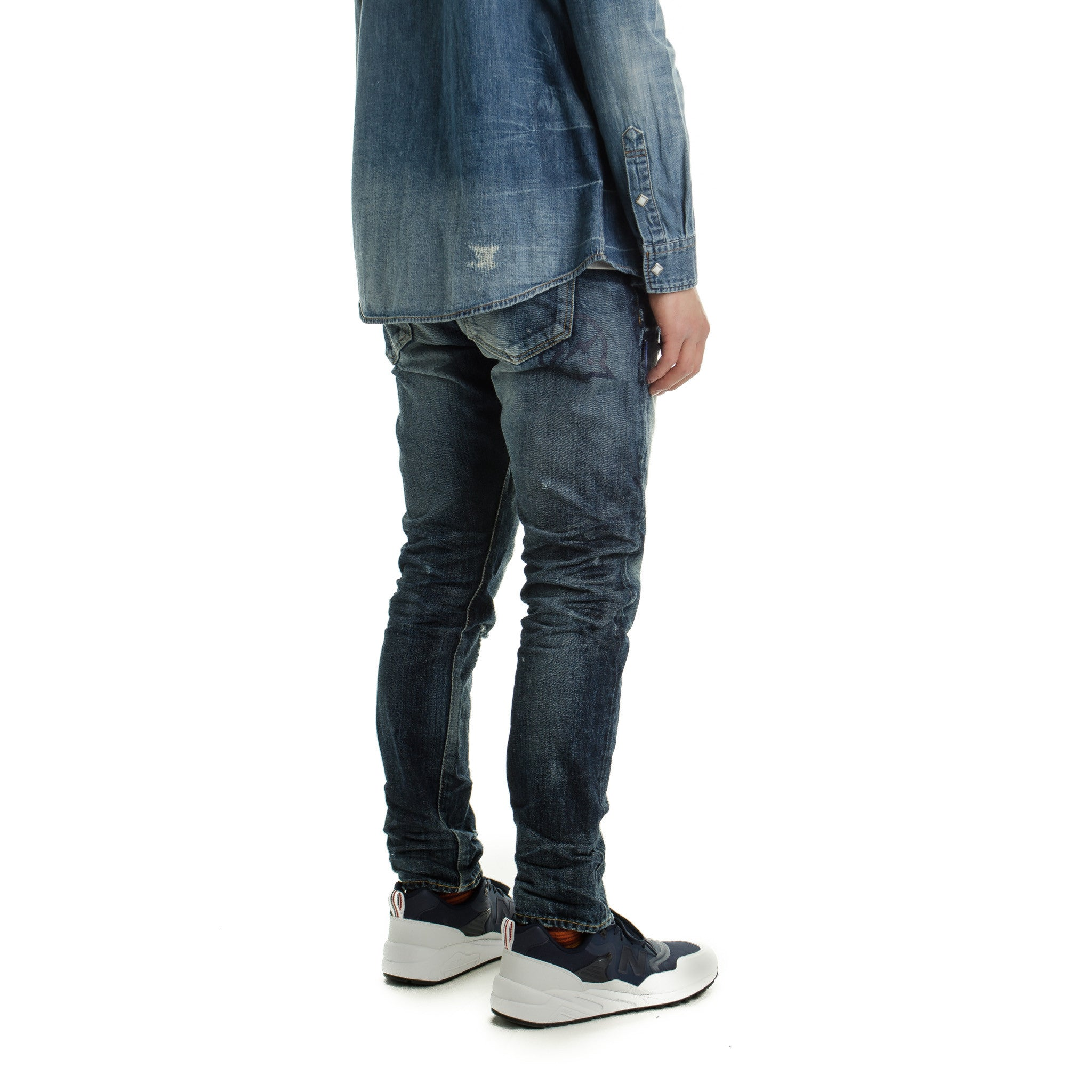Three Yrs Wash Tapered Denim Dark Indigo