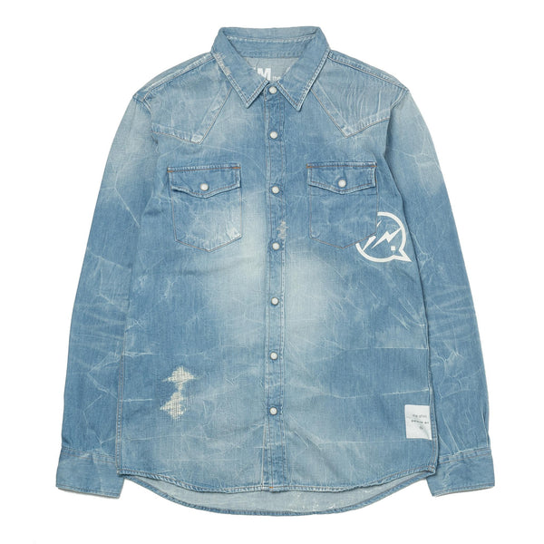 Western Denim Shirt Light indigo