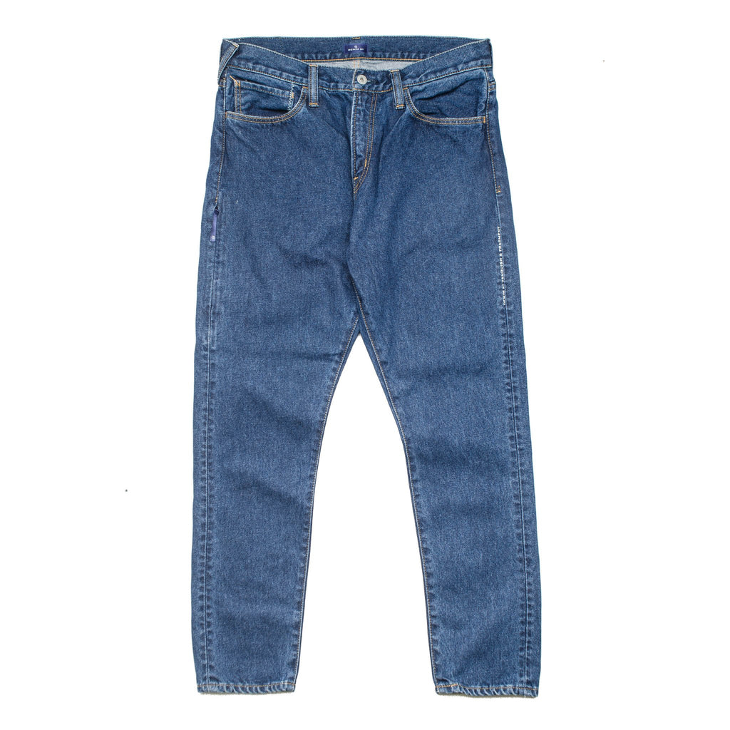 Stone Washed Tapered Pants Washed Indigo