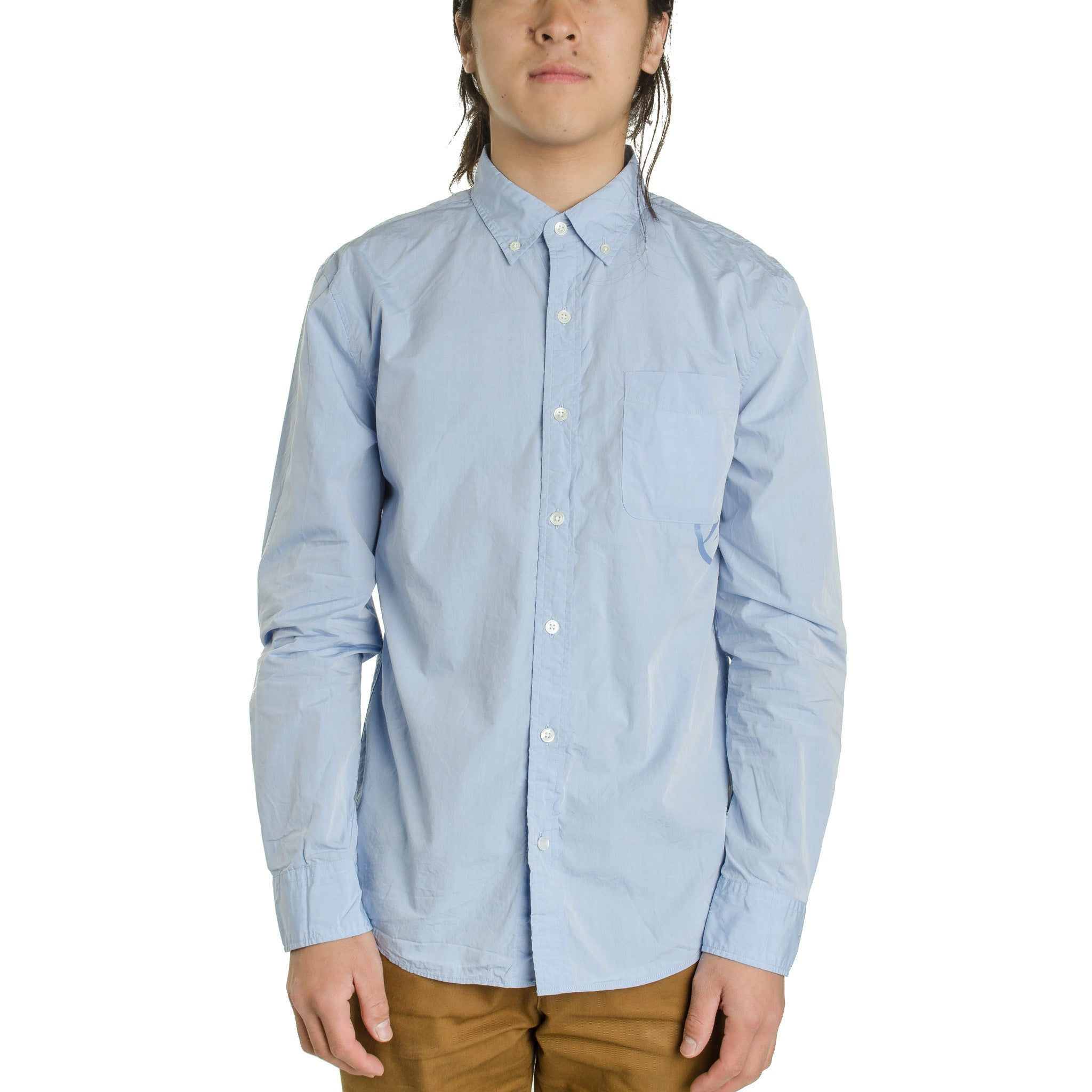 Broadcloth B/D Shirt 1051631 Sax Blue