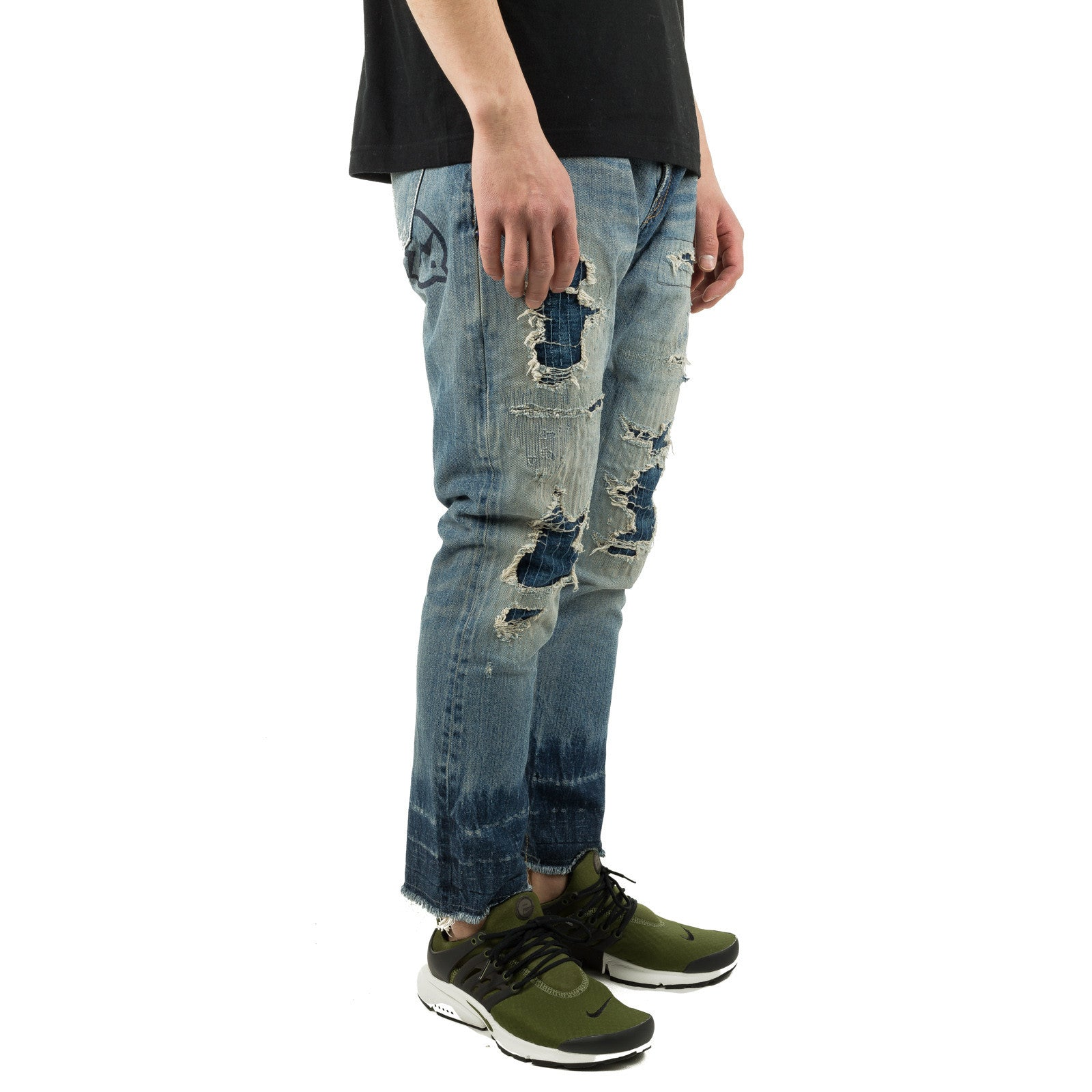 9/10 5YR Wash Tapered Denim Light Indigo