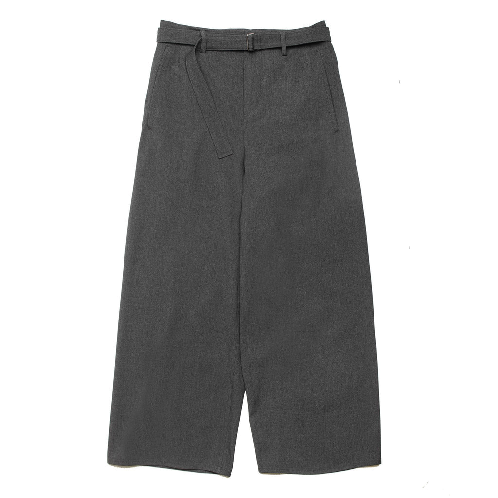 Belt Wide Pants DWROA025 Grey