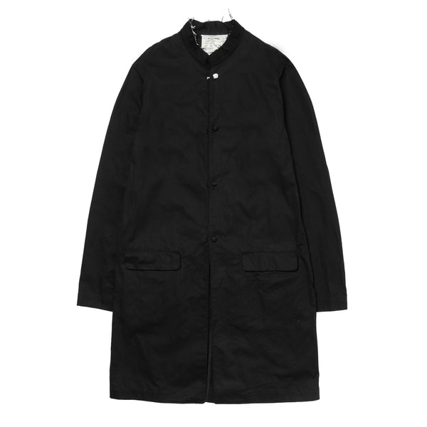 Stand Up Collar Coat Black