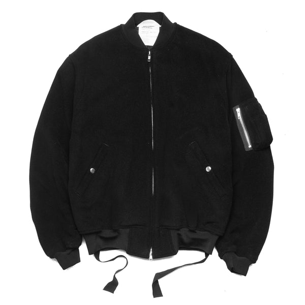 Wool MA-1 Jacket Black