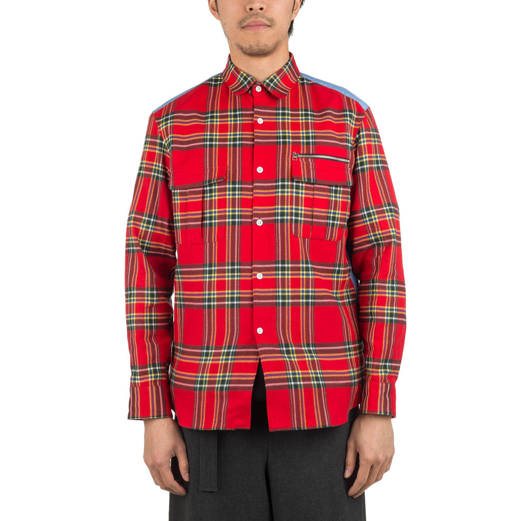 Check Work Shirt DWROA046 Red Check