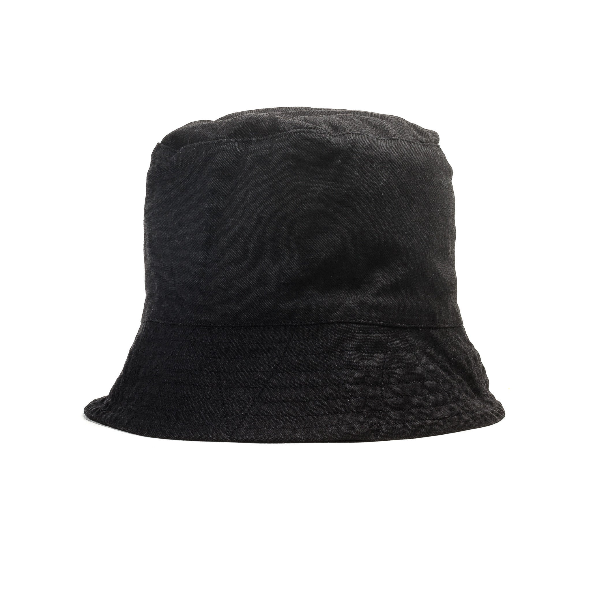 Bucket Hat Black Reversed Sateen
