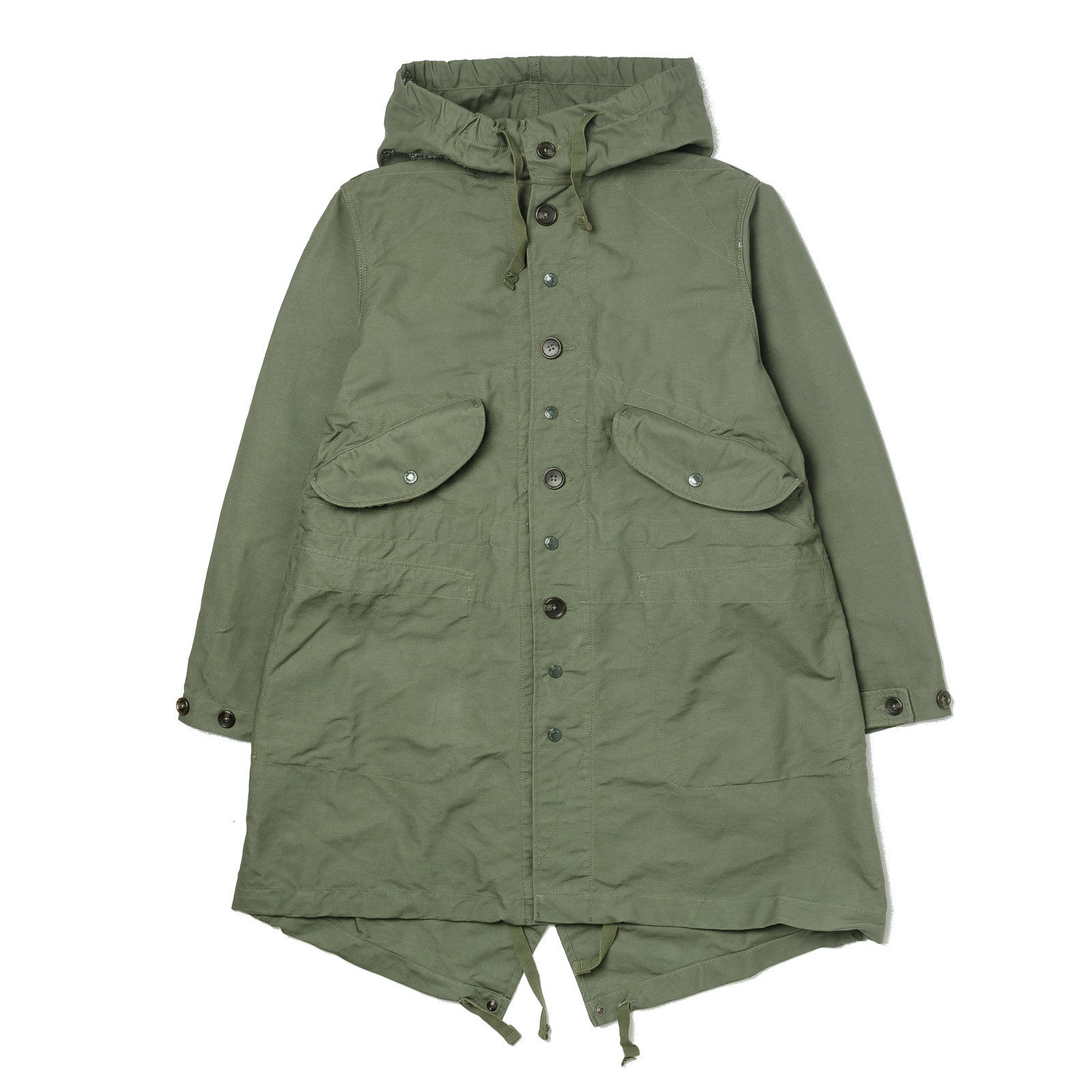Highland Parka Olive Double Cloth