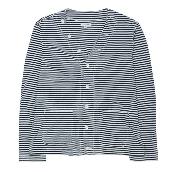 Knit Cardigan Stripe Jersey Navy/White
