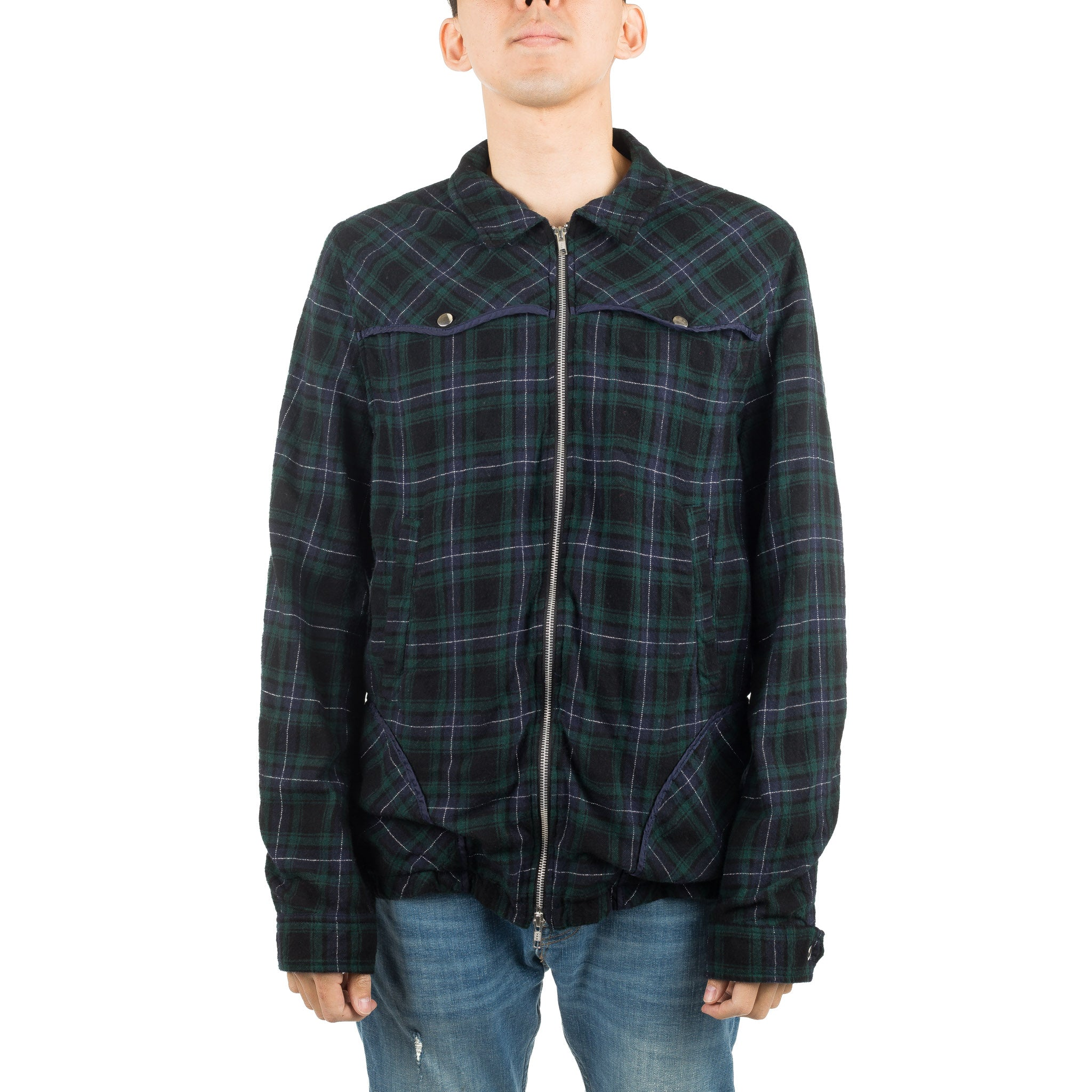 Plaid Jacket JUV4201 Green Check