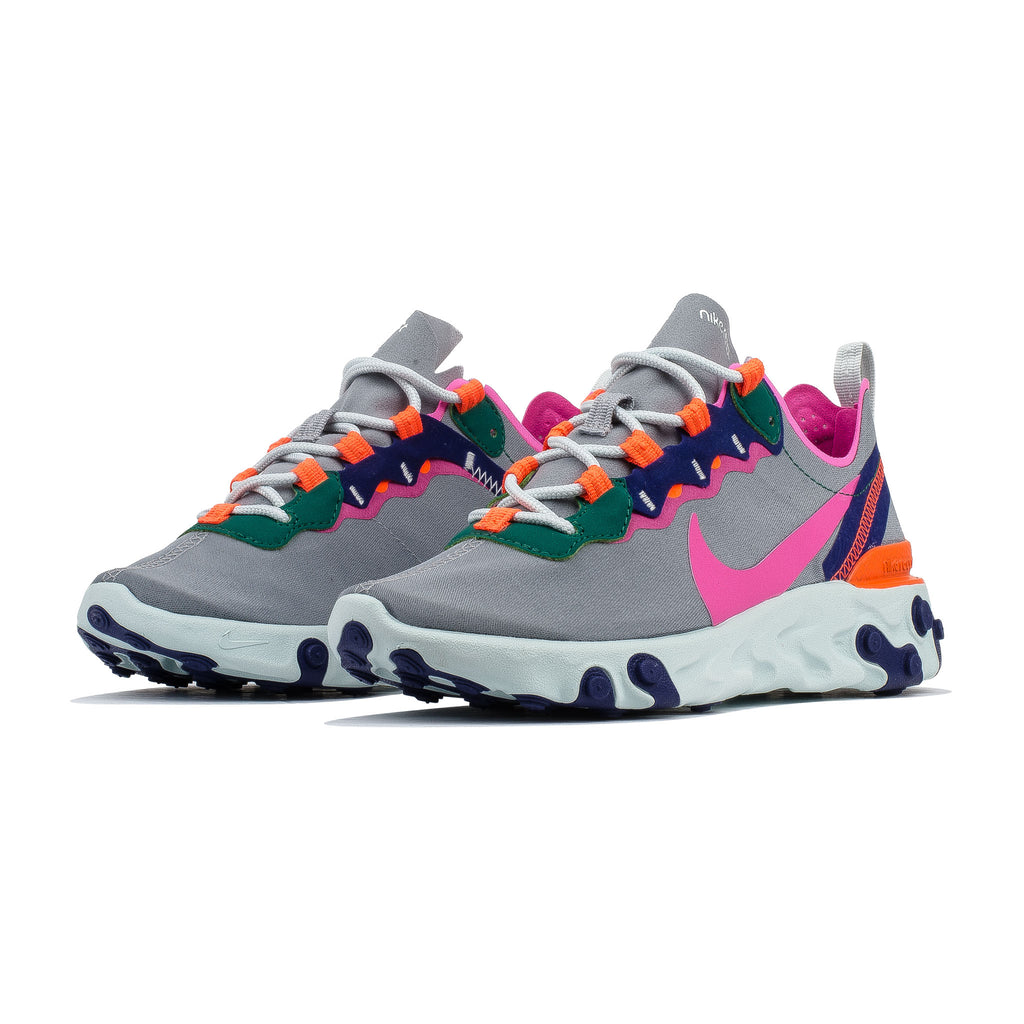 Wmns React Element 55 BQ2728-006 Wolf Grey