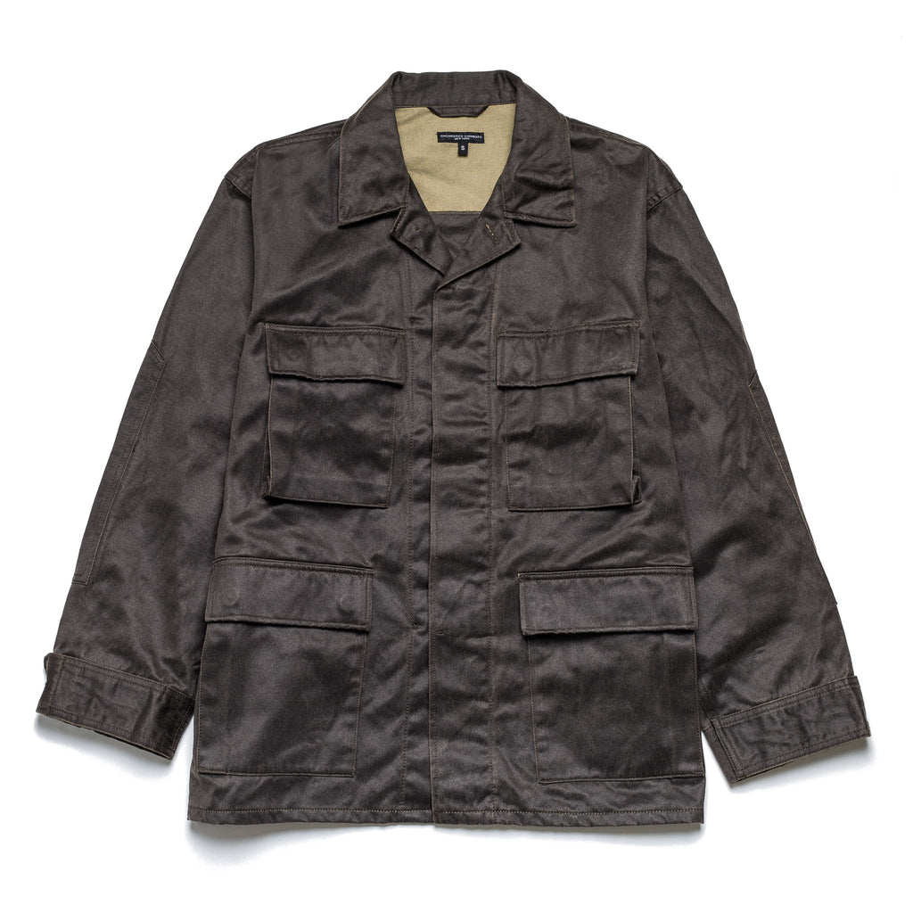 EG BDU Jacket 20F1D002 Dark Olive Coated Twill