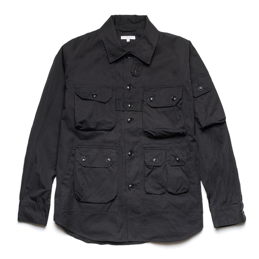 Explorer Shirt Jacket 21S1D037 Black Highcount Twill