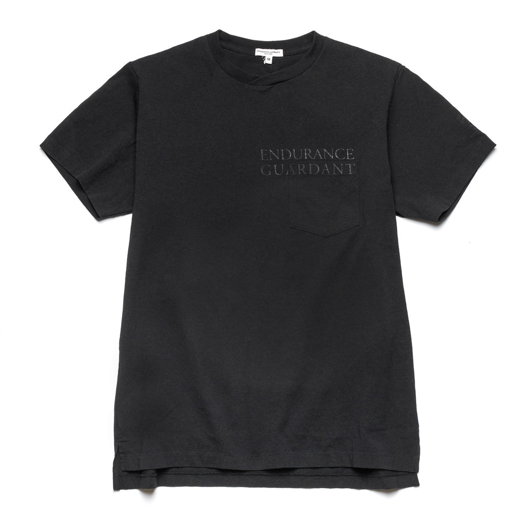 Printed Cross Pocket Tee 21S1H010 Black