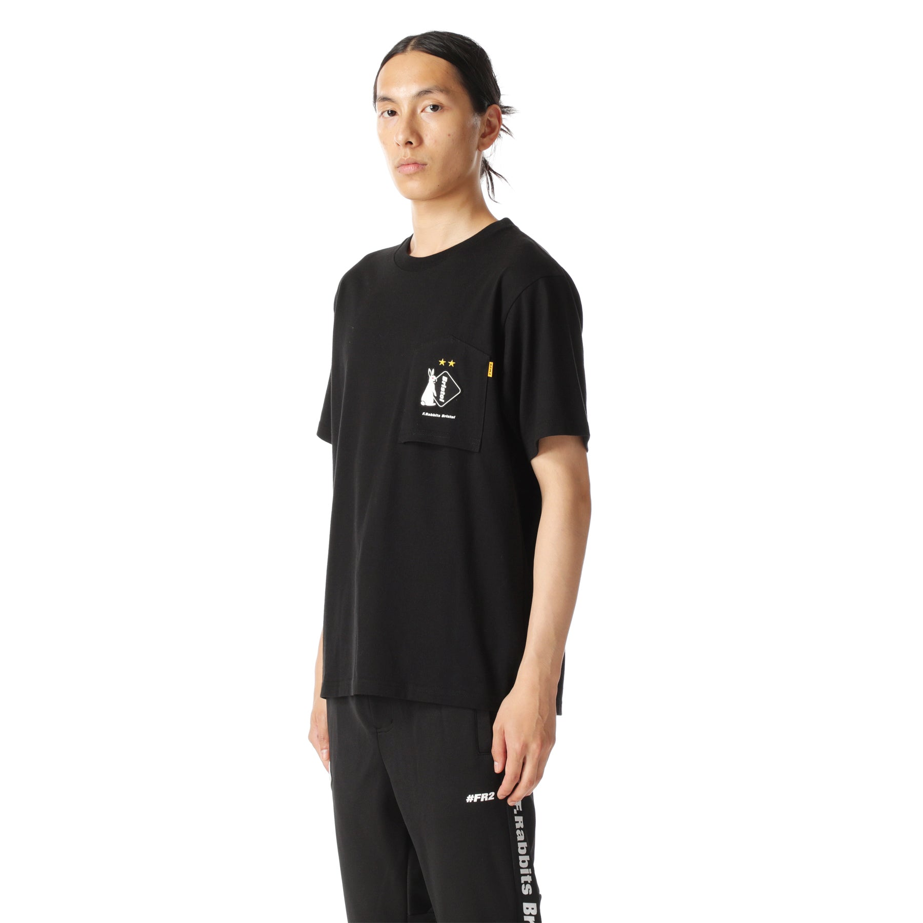 x FCRB Pocket Tee FRC1110 Black