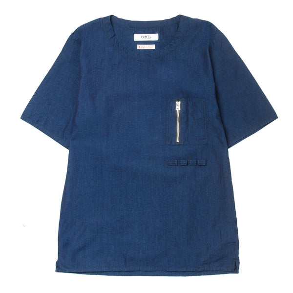Indigo Pocket Pull Shirt ST11 Navy