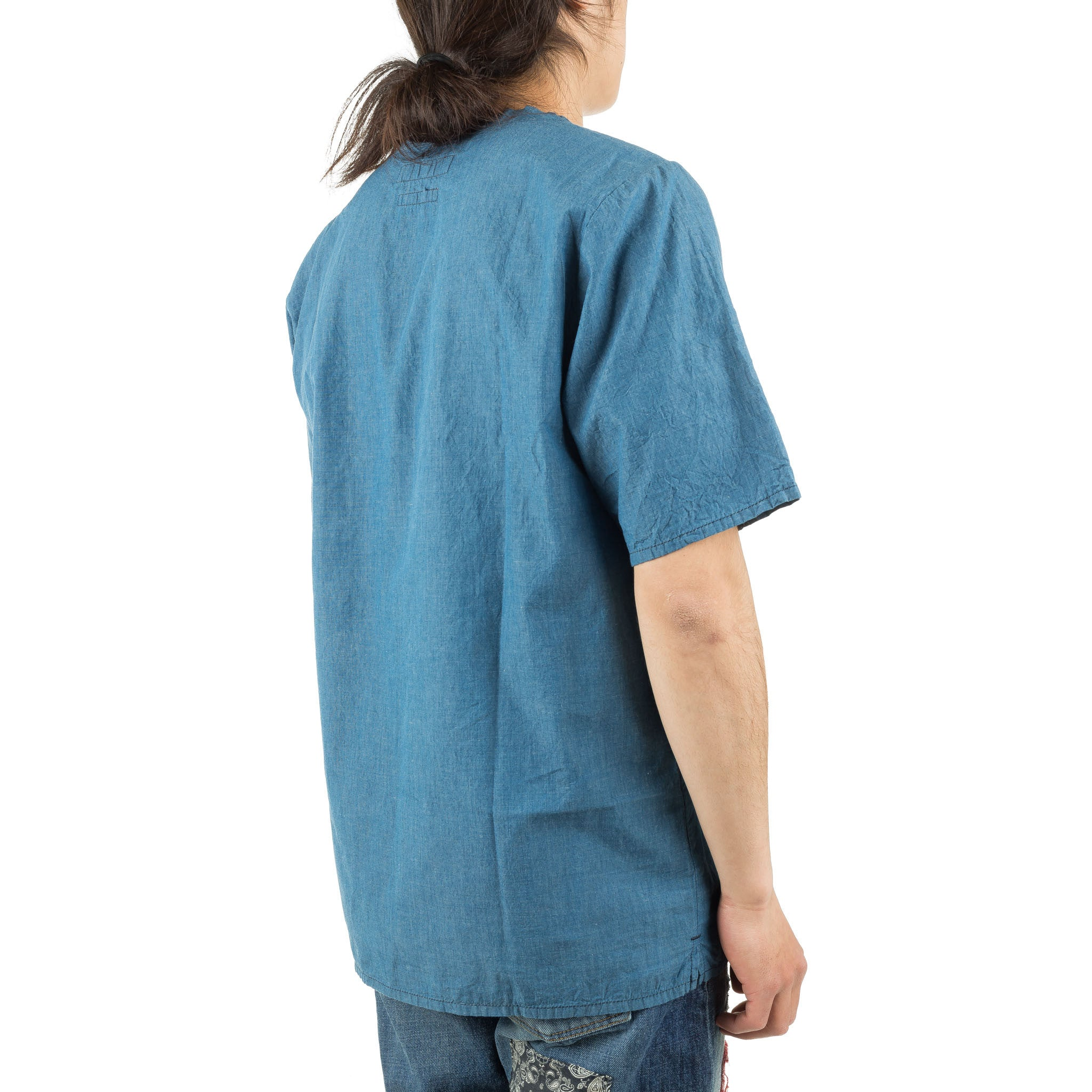 Indigo Pocket Pull Shirt ST11 Blue