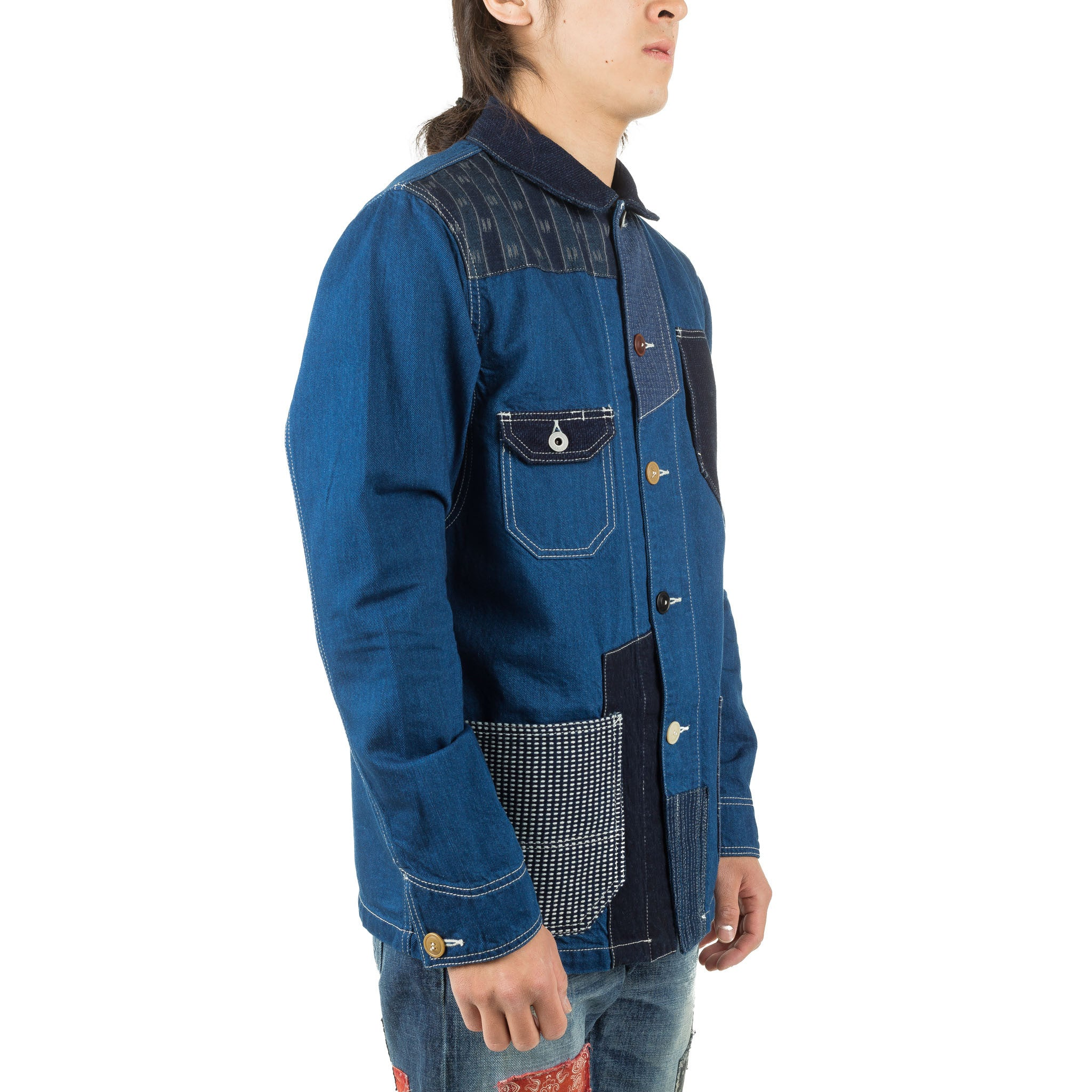 Patchwork Coverall Rinse JK12R Indigo