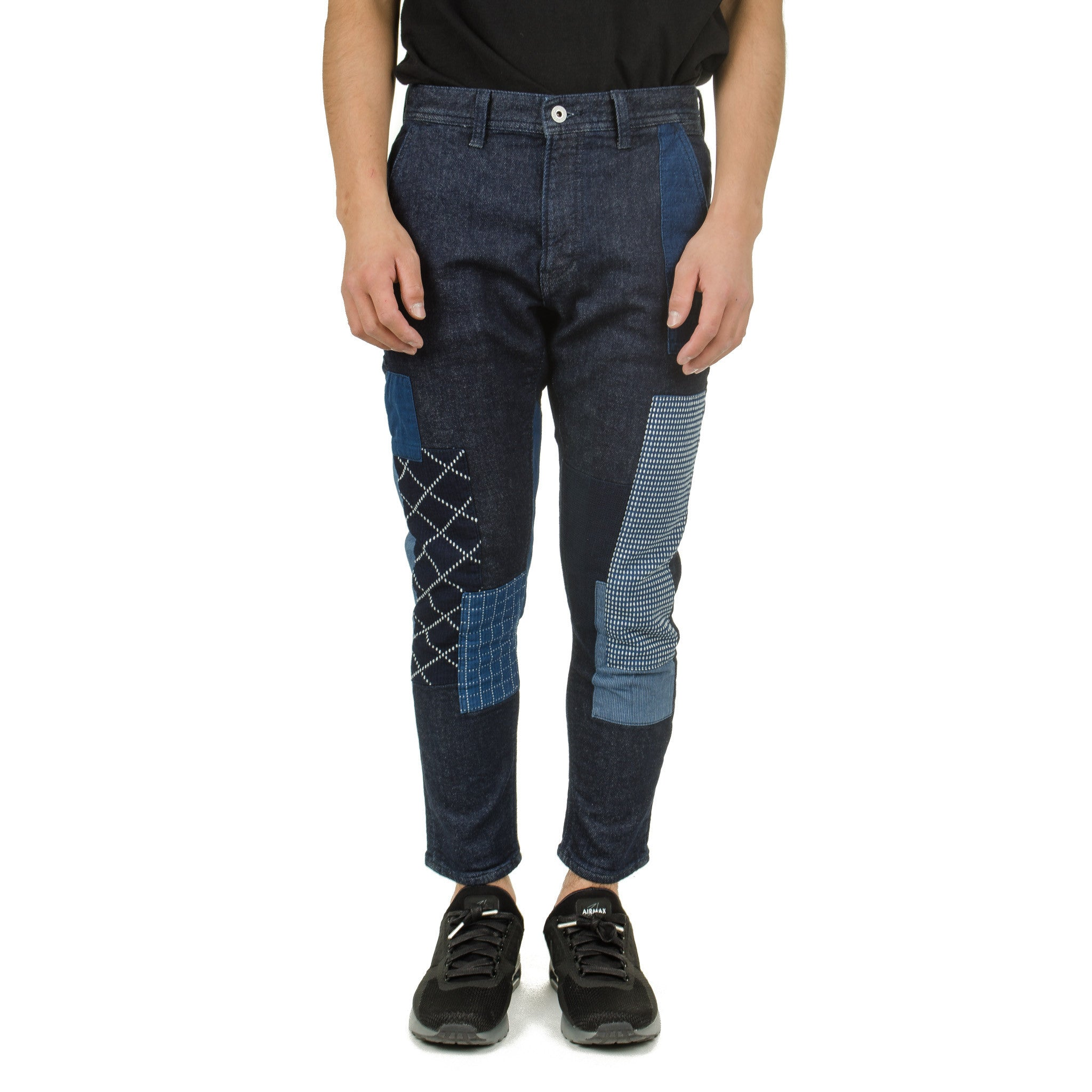 Cropped Boro Stretch Denim Rinse