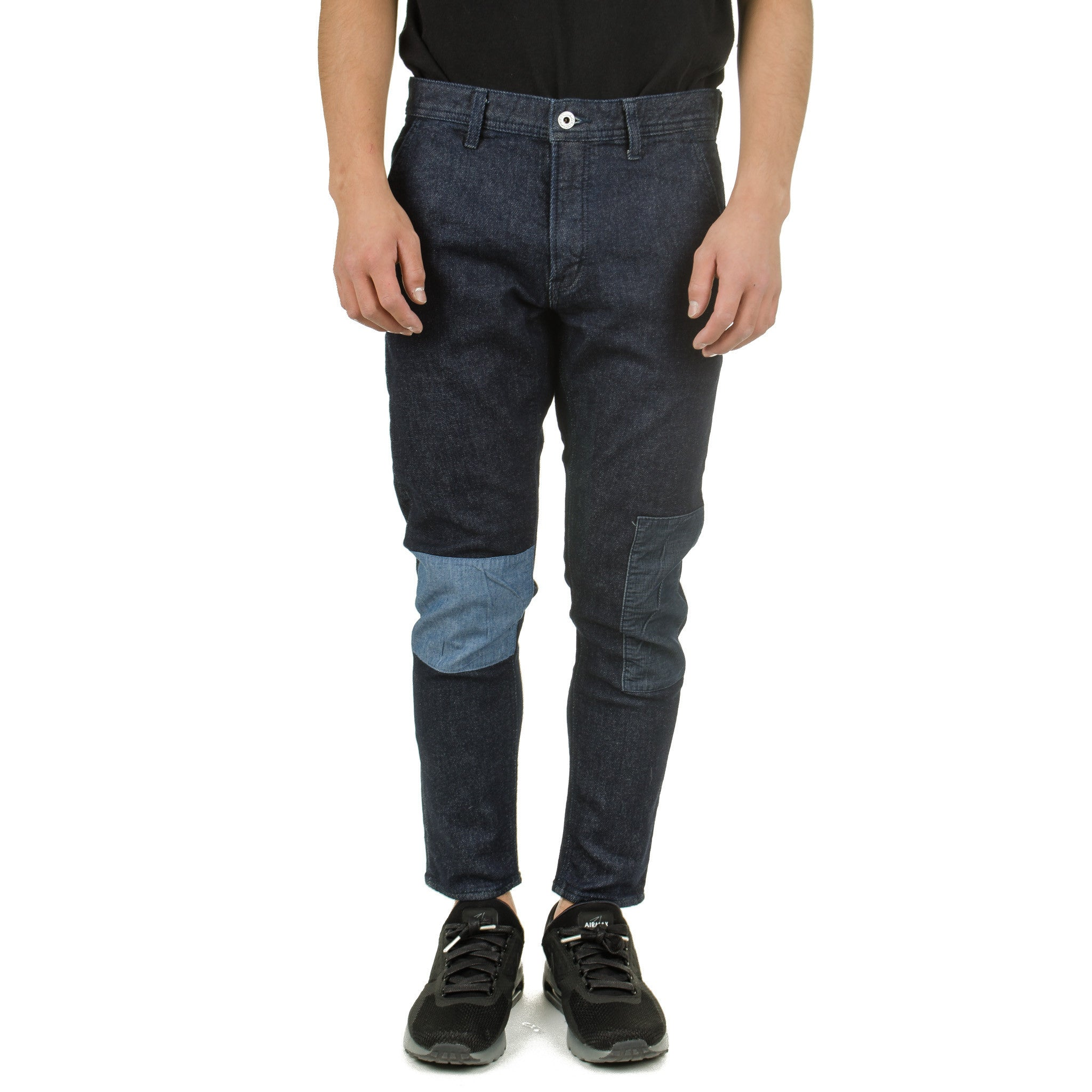 Cropped Patch Pants Rinse PN33R Indigo