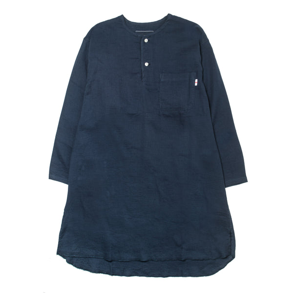 Gauze Long Henley WL-S-08 Navy