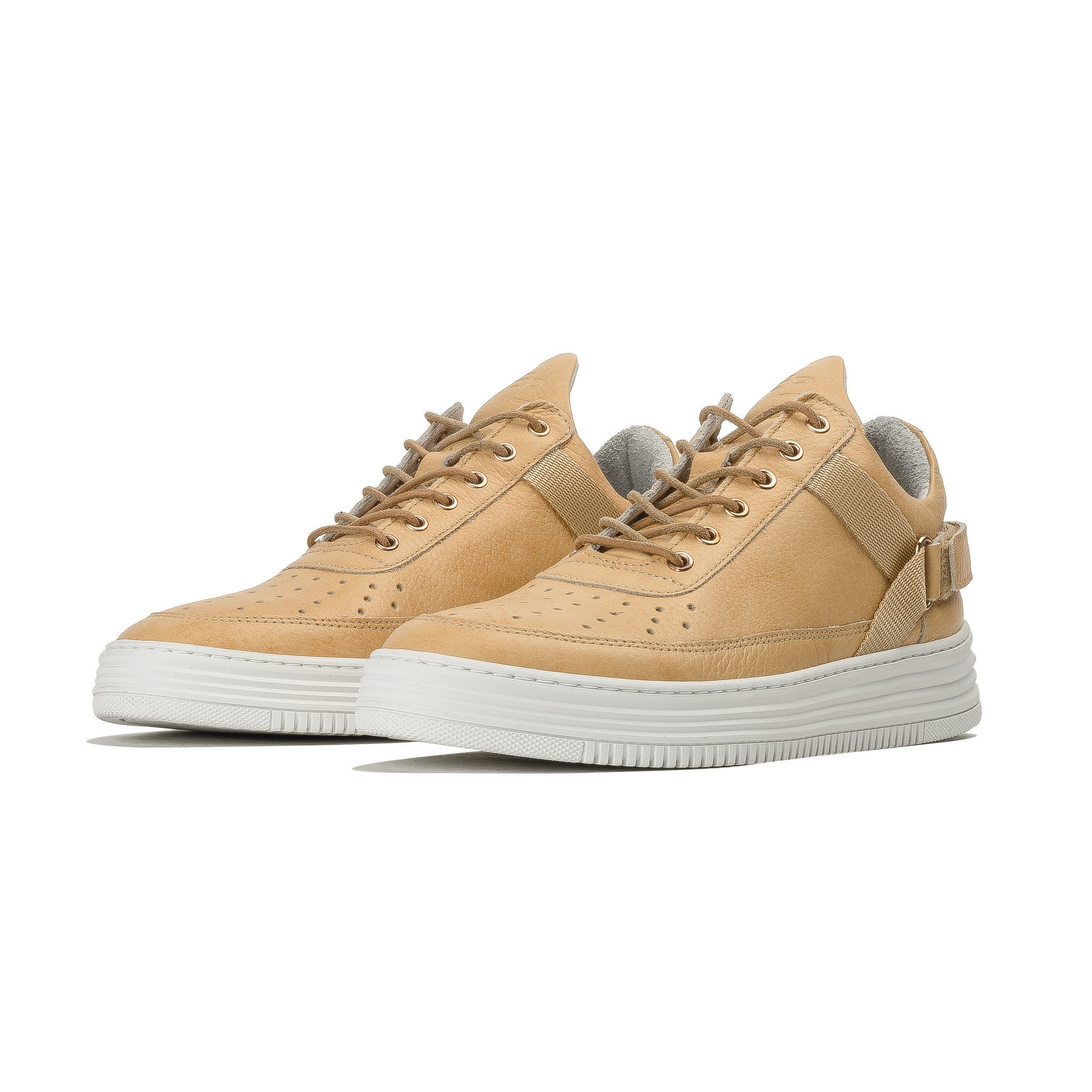 Low Top Strapper 1011246 Crème