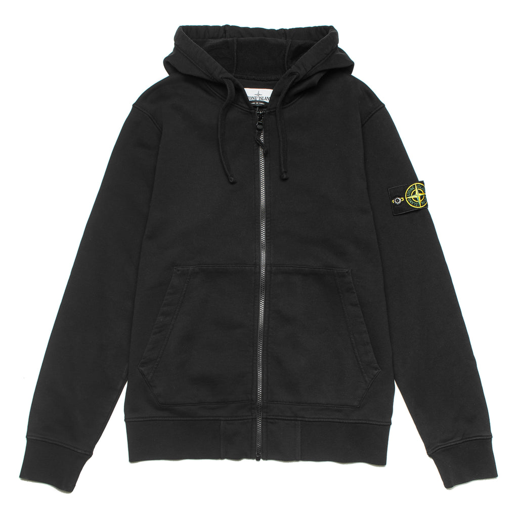 Garment Dyed Full Zip Hoodie 721564251 Black