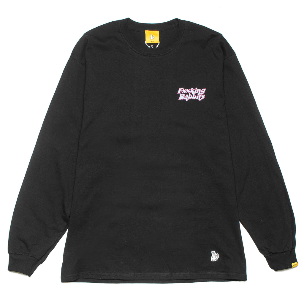 Masked Rabbit LS Tee Black