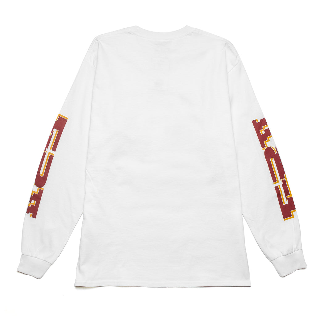 The Finger LS Tee White