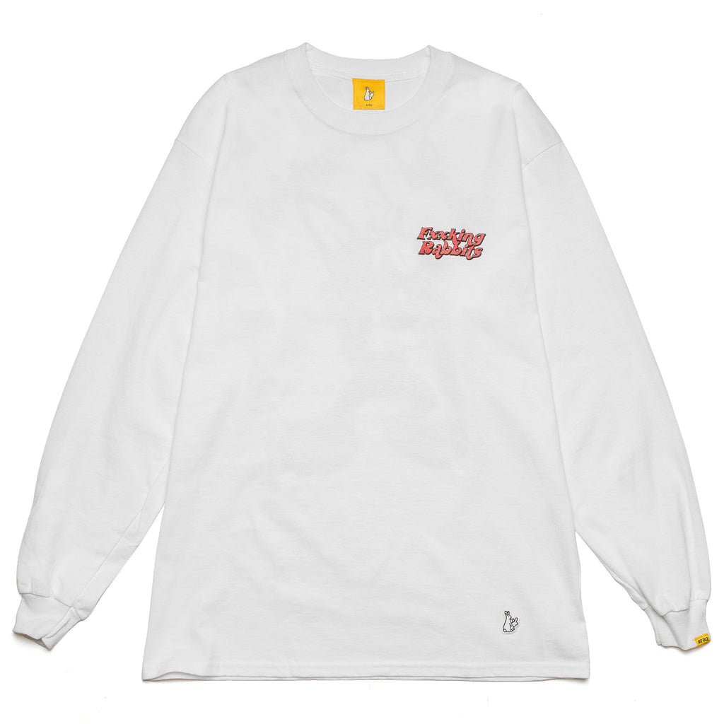 Masked Rabbit LS Tee White