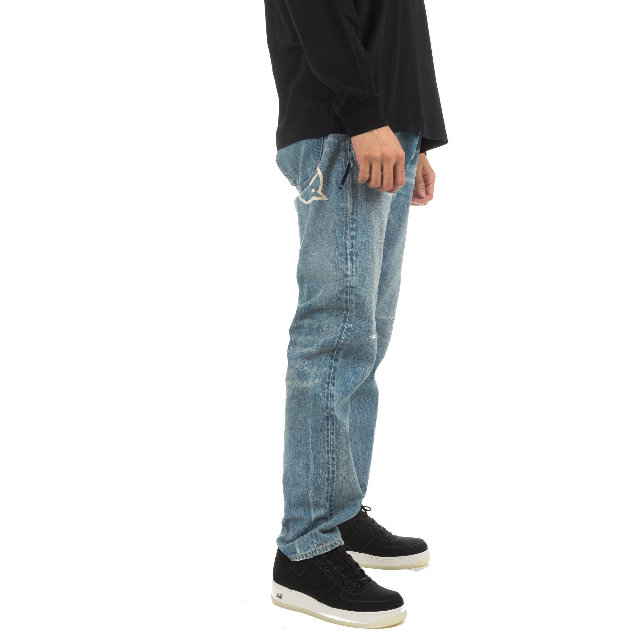 Washed Remake Wide Denim VFP1071 Light Indigo